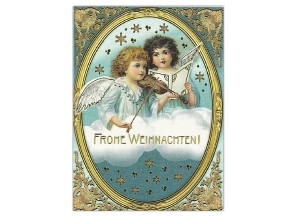 Weihnachtskarte Edition Tausendschön Himmlische Geigen