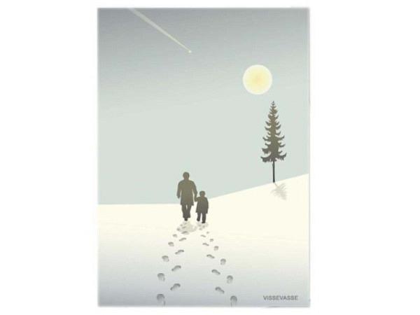 Weihnachtskarte Mistelzweig 15x15cm