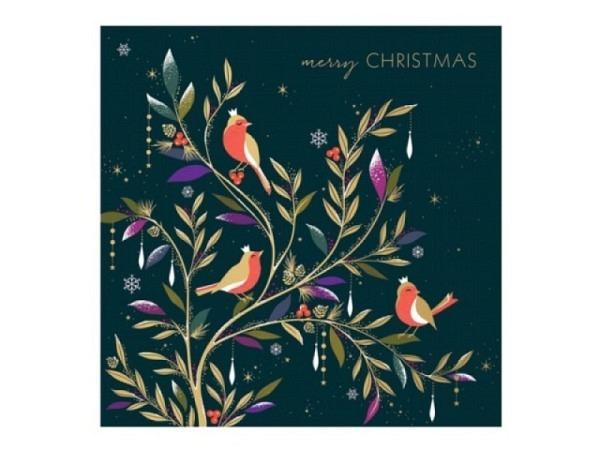 Weihnachtskarte Weihnachtliche Briefmarken, rot