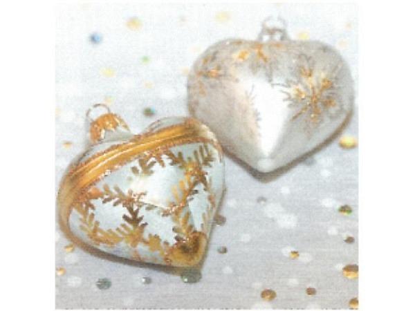 Kartenbox Art Bula 5er Set, Weihnachtskugel in Herzform