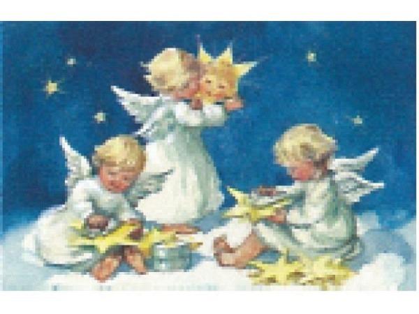 Kartenbox Art Bula 5er Set Drei Engelkinder, Goldsterne