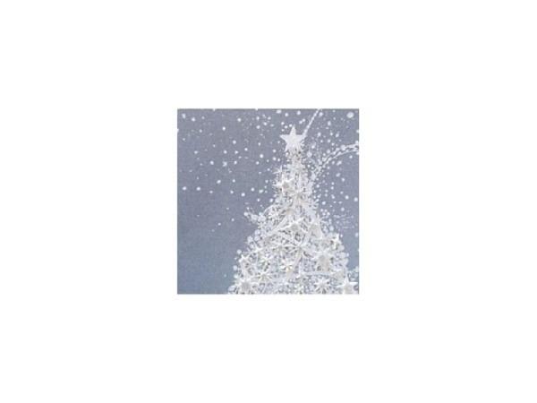 Weihnachtskarte Tannenbaum weiss 16x16cm quadratisch