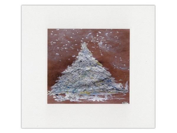 Weihnachtskarte Tannenbaum 16x16cm quadratisch