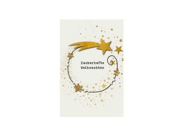 Weihnachtskarte ABC Glaskerze verziert französisch