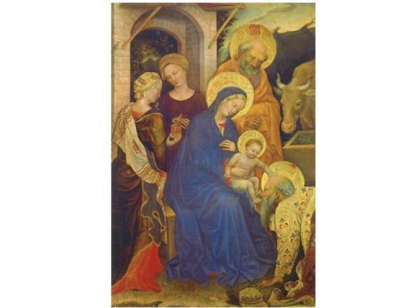 Weihnachtskarte ABC heilige Krippe