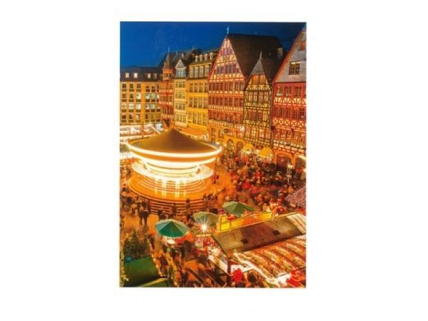 Weihnachtskarte ABC Bern Weihnachtsmarkt mit Karusell