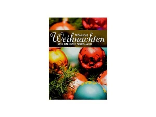 Weihnachtskarte ABC Bronzensterne mit Text 5Stk