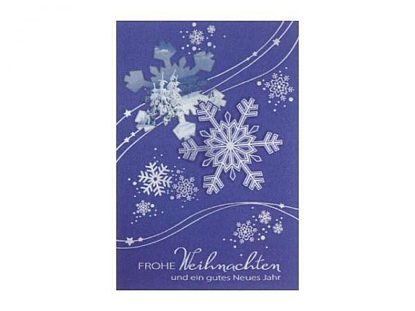 Weihnachtskarte ABC bronzenfarbene Kerze und Kugel 5 Stk