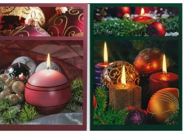 Weihnachtskartenbox ABC Kerzenschein 6Stk