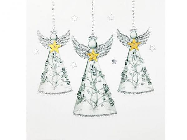 Karte Hervorragend Jaab Cards Silberkarten Angel Baubles