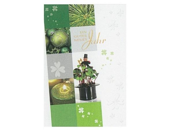 Neujahrskarte Borer ein gutes neues Jahr 17x11,5cm