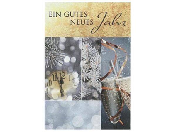 Neujahrskarte Borer Countdown für ein gute neues Jahr 11,5x17cm