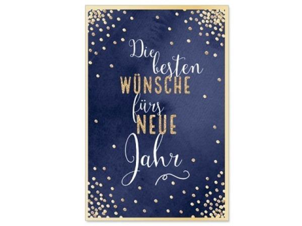 Neujahrskarte Artebene Neues Jahr 11,5x17cm