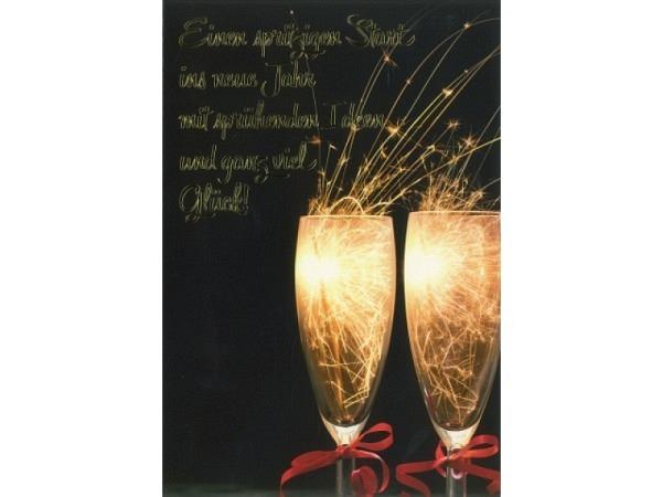 Neujahrskarte ABC Einen spritzigen Start ins neue Jahr 12x17,5cm