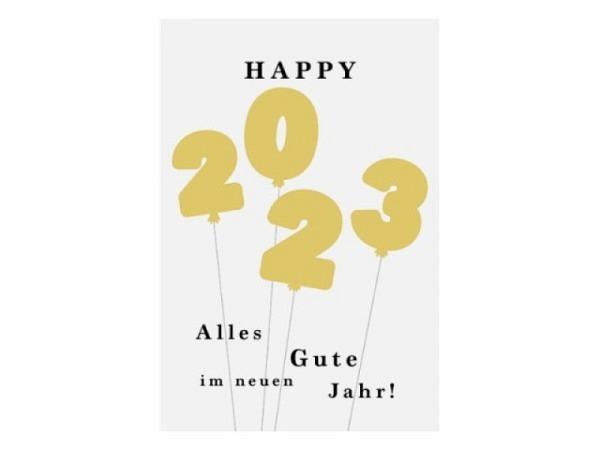 Neujahrskarte ABC Happy New Year 2018 12x17,5cm