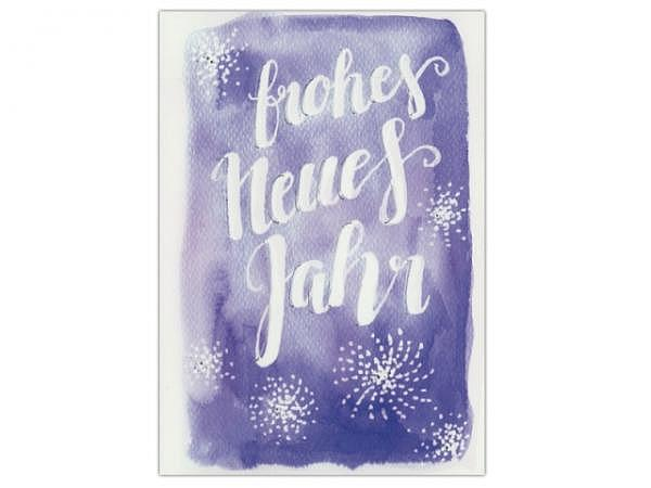 Neujahrskarte ABC My Deer silber 12x17,5cm