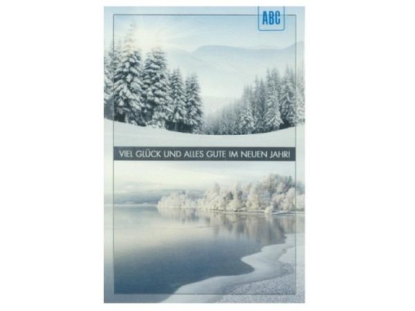 Neujahrskarte ABC Winterlandschaft