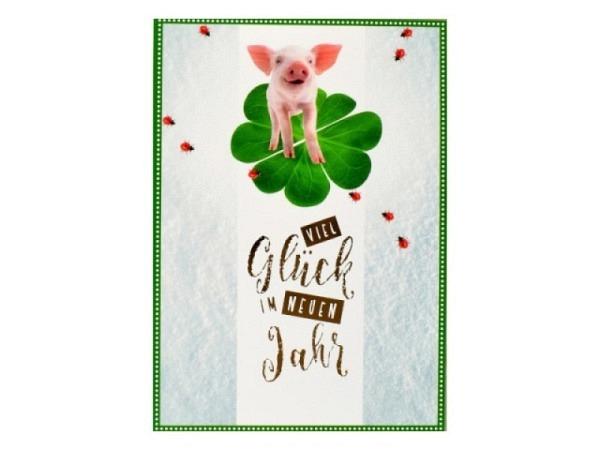 Neujahrskarte ABC Schneewald 5Stk