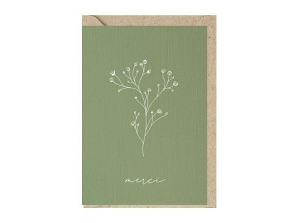 Dankeskarte Hanra Blumenstrauss 11,5x17cm B6