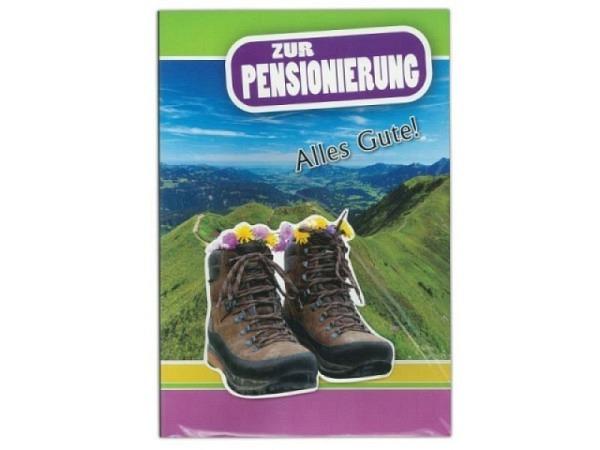 Karte Borer A4 Zur Pensionierung, Berglandschaft