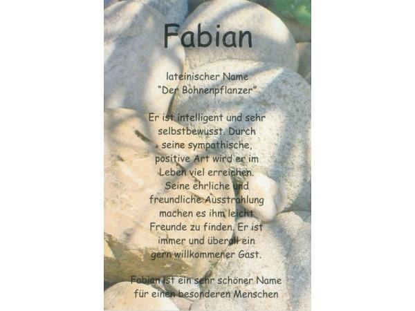 Karte Elite Namenskarte Fabian 11,5x17cm<br>