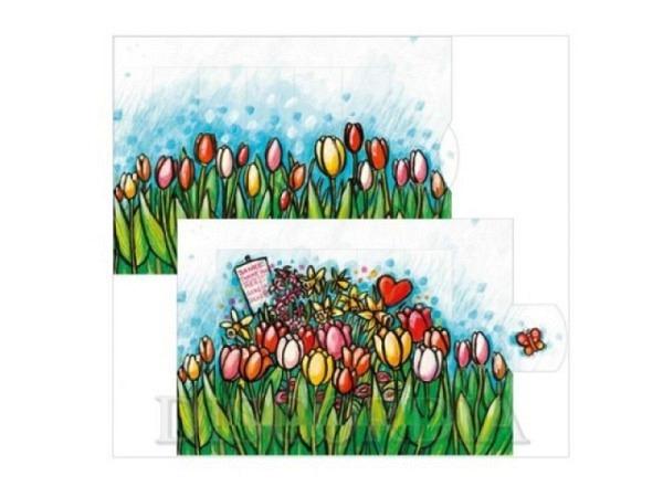 Dankeskarte Die Lebende Karte Tulpen zwei wechselnden Bilder