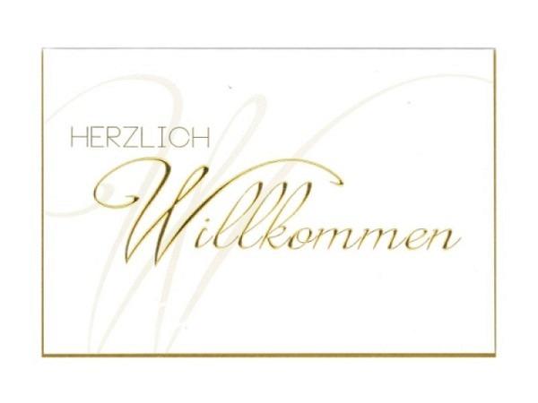 Wilkommenskarte Borer Goldschrift 11,5x17cm