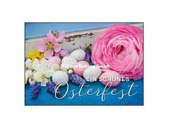 Dankeskarte Gollong Blumen, 17,2x12cm