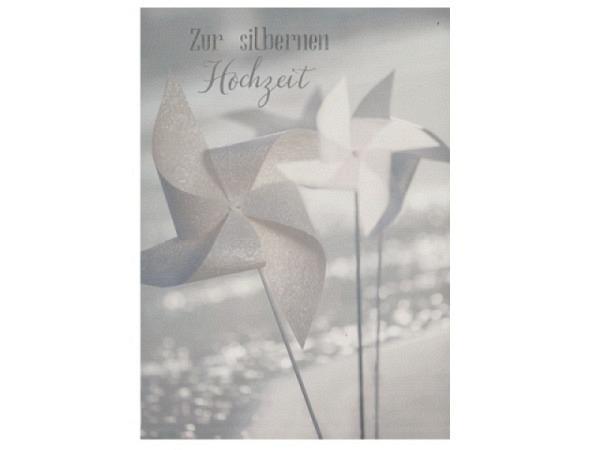 Einladungskarte AvanCarte 5er Flowers, weisse Doppelkarte mit Text Einladung mit vielen kleinen Blüten verziert, 5 Karten inkl. Couvert