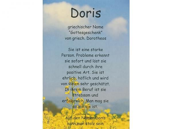Karte Elite Namenskarte Doris 11,5x17cm<br>