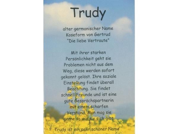 Karte Elite Namenskarte Trudy 11,5x17cm<br>
