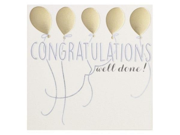 Dankeskarte Cavallini Merci Birds, Vögeln und Aufdruck Merci