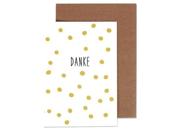 Dankeskarte Ava&Yves Danke A6 14,8x10,5cm