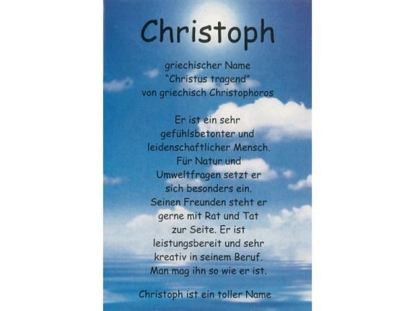 Karte Elite Namenskarte Christoph 11,5x17cm