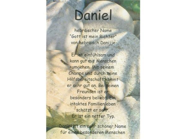 Karte Elite Namenskarte Daniel 11,5x17cm