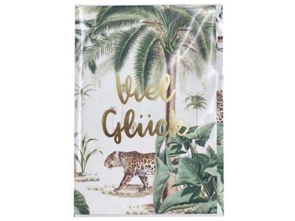 Glückwunschkarte Creative Lab Amsterdam Jungle 12x17,5cm weisse Doppelkarte, bedruckt mit Gepard im Jungle