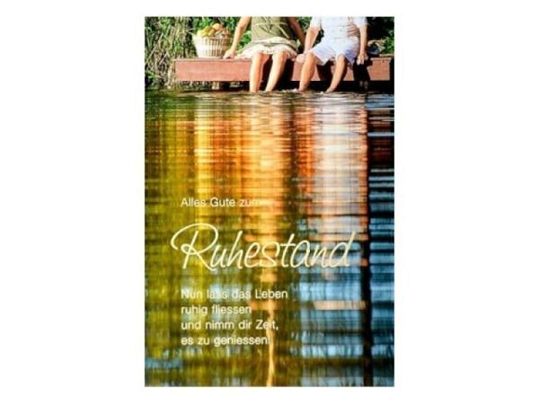 Karte ABC 25.Hochzeitstag Silberhochzeit Ringe 12,5x17,5cm