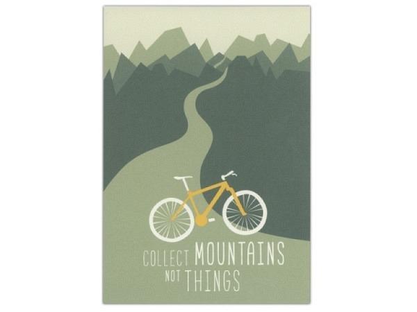 Karte Roadtyping Mountainbike 10,5x14,8cm
