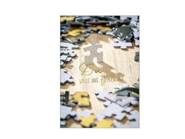 Abschiedskarte Hartung Maxi Puzzle 210x297mm A4