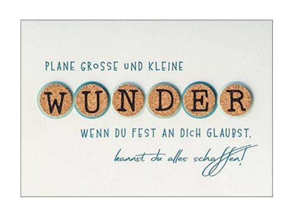 Abschiedskarte Hartung Best Words plane grosse und kleine Wunder, we..
