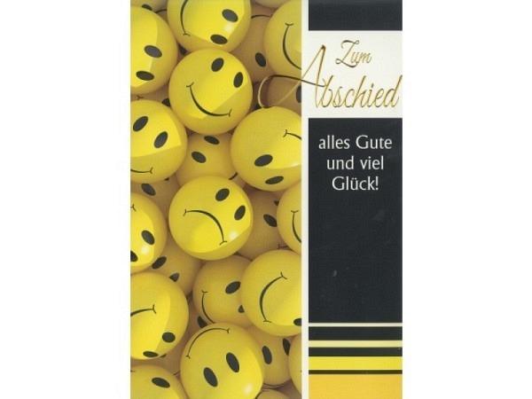 Abschiedskarte Borer A4 Smiley