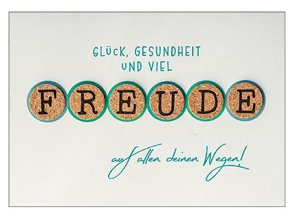 Abschiedskarte Hartung Best Words Glück, Gesundheit und viel Freude ..