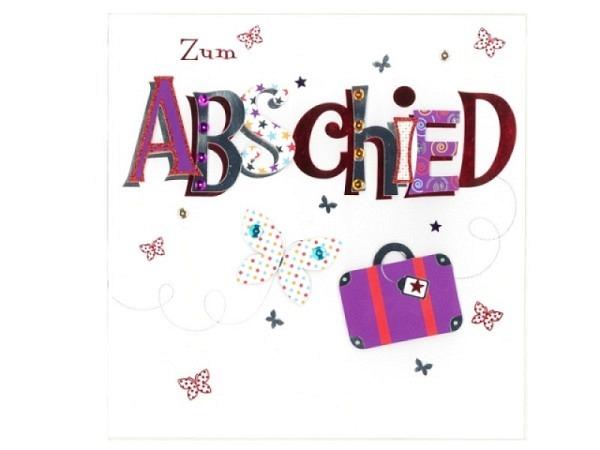 Abschiedskarte AvanCarte Schriftzug 20x20,5cm