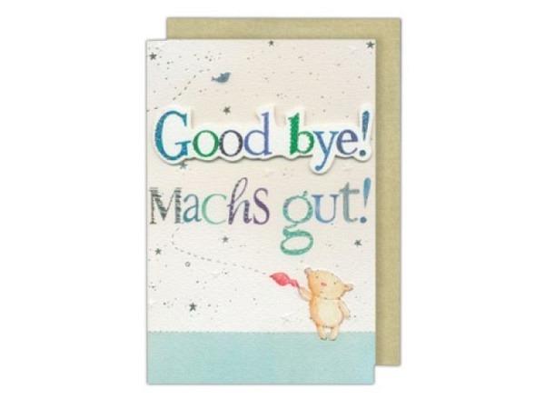 Abschiedskarte AvanFlair Good bye blau