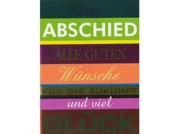 Abschiedskarte Borer Alle guten Wünsche 11,5x17cm