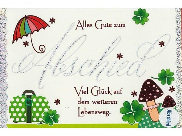 Abschiedskarte Borer Glück 11,5x17cm