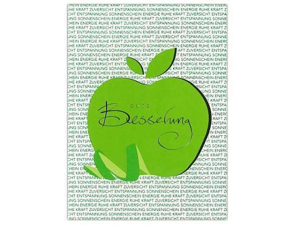 Genesungskarte ABC Apfel Gute Besserung 12,5x17,5cm