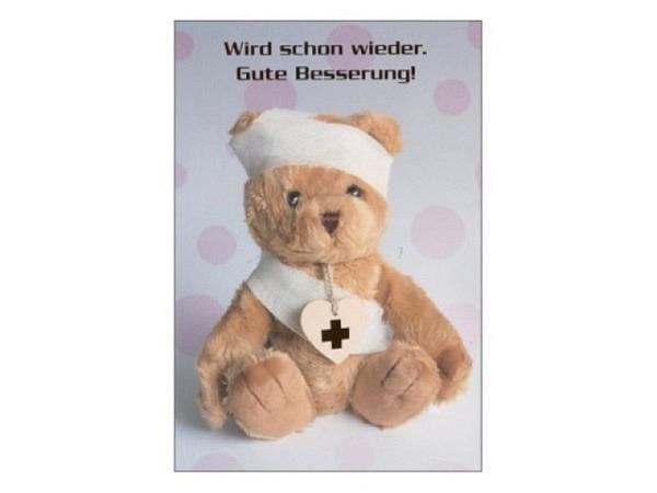 Postkarte Gollong A6 Gute Besserung Teekanne 10,5x14,8cm