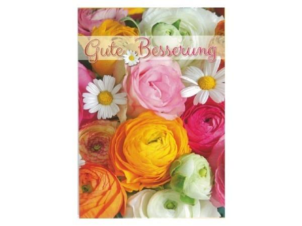 Genesungskarte Gollong Blüten, 12x17,1cm