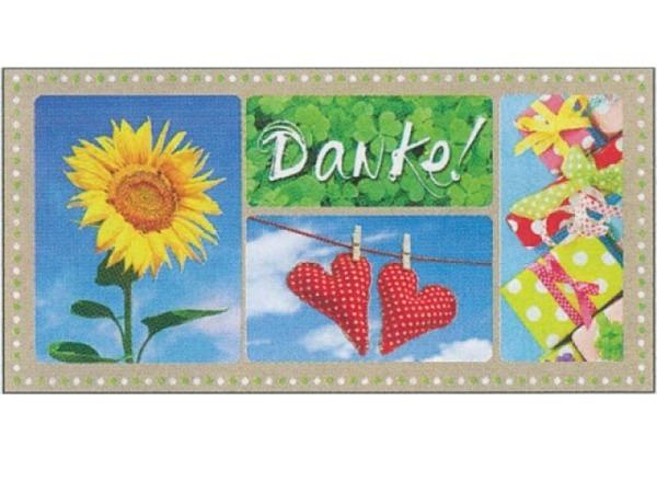 Postkarte Gollong XXL Danke!, 23x11,5cm